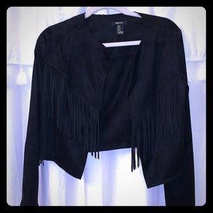 Black Suede Fringe Jacket